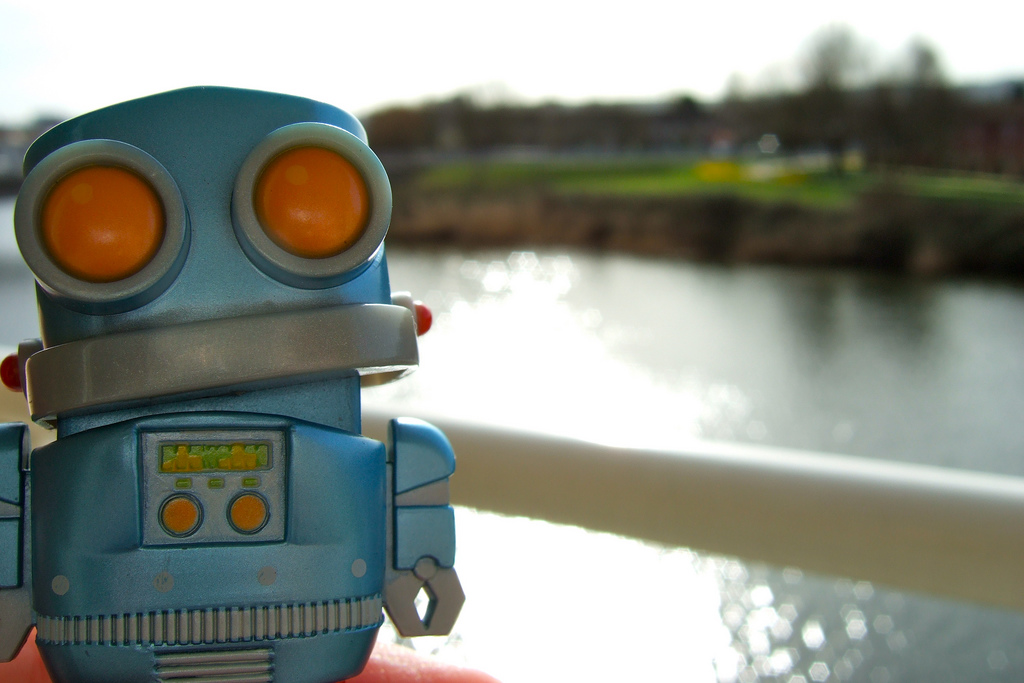 Robot on the Taff by John Greenaway